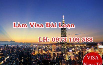 Thủ tục làm visa Đài Loan