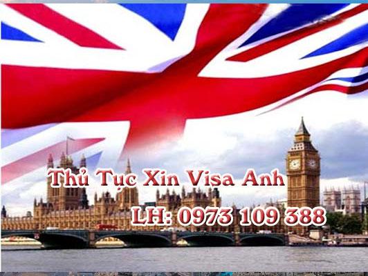 Thủ tục xin visa đi Anh