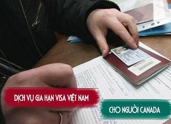 Xin gia hạn visa DN cho người Canada