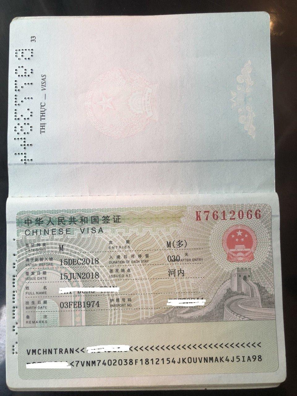 Thủ tục làm visa Trung Quốc tại Cầu Giấy Hà Nội