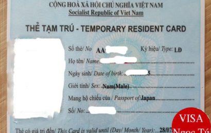 Thủ tục xin cấp thẻ tạm trú cho người Nhật Bản