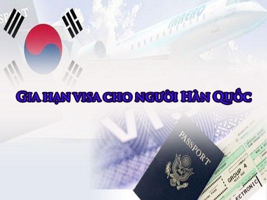 Gia hạn 15 ngày visa cho khách Hàn Quốc